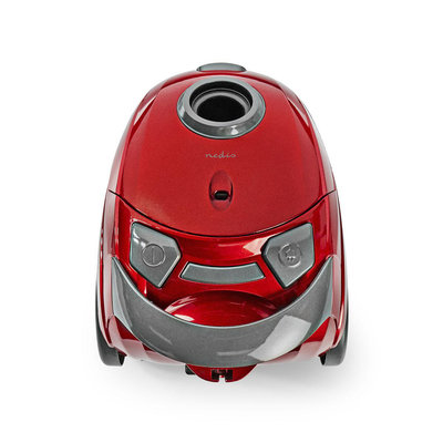 Compacte, krachtige stofzuiger - met zak - 700 W - 1,5 L Inhoud - metallic Rood