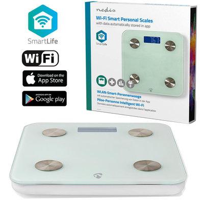 Wi-Fi smart personenweegschaal   BMI, Vet-, Water-, Bot-, Spieren-, Eiwitgehalte   Gehard Glas   8 Personen
