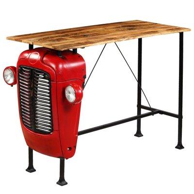 Bartafel tractor 60x150x107 cm massief mangohout rood