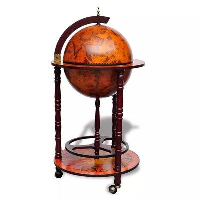 Bijzonder mooi afgewerkte Globebar hout
