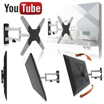Zeer mooie Design TV beugel, gemaakt van licht aluminium.