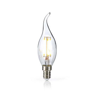 Retro LED-gloeilamp E14   Kaars met gebogen punt   4,8 W   470 lm