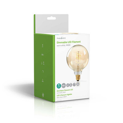Dimbare vintage LED-gloeilamp E27   G125   5 W   260 lm