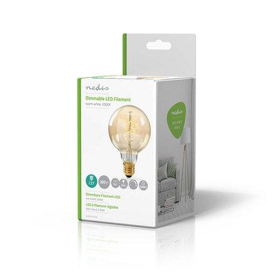 Dimbare vintage LED-gloeilamp E27   G95   5 W   260 lm