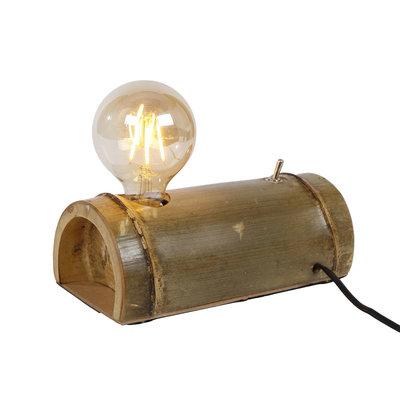Bijzonder mooie tafellamp gemaakt van bamboe