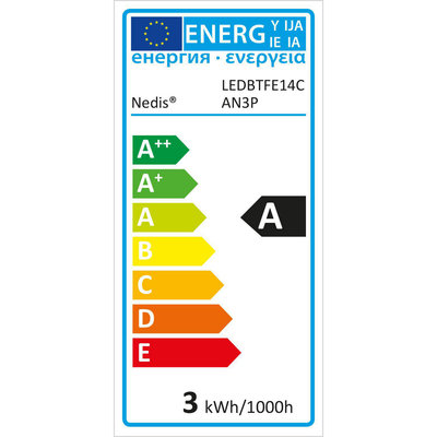 Dimbare LED-Filamentlamp Retro E14   Kaars   3 W   100 lm - 3-Pack