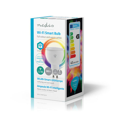 Wi-Fi smart LED-lamp   Full-Colour en Warm-Wit   GU10