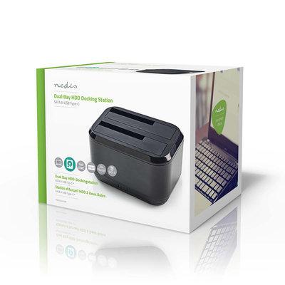Harde Schijf-Dockingstation | USB-C™ | SATA | Dual Bay | met Voedingsadapter