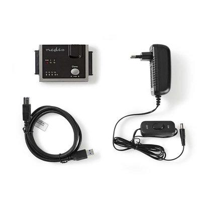 Hardeschijfadapter | USB 3.0 | Dual Sata | 2,5